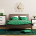Contemporary elegant green bedroom with eug